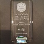 2016 Orlando Small Business Excellence Award for Massage