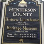 Henderson County Plaque at Courthouse