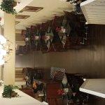 Beautiful lobby, large dining area, beautiful historic building