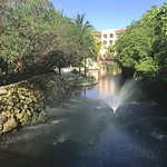 The river that circulates around the central area of the resort.