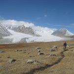 Single track of Altai Mountain