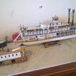 Some of the dozens of riverboat models in the museum.