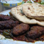 Kufta Kebab with nan.