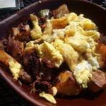 Thiz is my Sahara Skillet with chorizo and scrambled eggs