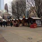 Christmas Village at Love Park.
