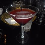 Manhattan, made with Maker's Mark with a little extra cherry juice!