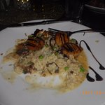 Scallops with Mushroom Risotto