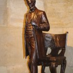 One of the sculptures of Lincoln inside.