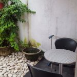 Outdoor area next to the shower. Love this tiny corner!