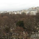 cimetière de Montmartre vue de la chambre 18 ème étage