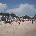Copacabana beach looking towards sugarloaf mountain