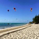 Kite Surfers on Long Bay Beach