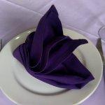 Folded napkin.