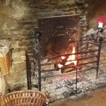 Lovely log fire, welcome on cold days