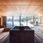 Panorama Sauna im Winter