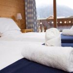 Lovely twin rooms with a balcony over looking the resort of Morzine