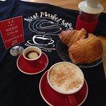 Macchiato, cortado, latte, cappuccino, chai latte, espresso, brewed and pour over coffees.