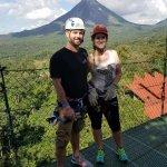 Zip Line view of volcano