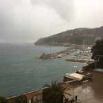 villefranche winter downpour