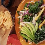 Kale Salad and meat tacos