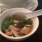 Wonton Soup with Big shrimp in broth