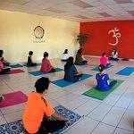En estos momentos nuestra sesión de meditación!