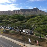 Diamond Head from the restaurant