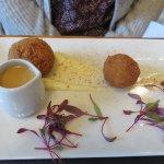 Duo of haggis & black pudding starter at Cornhill Castle Hotel