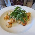 Prawn Linguini mains at Cornhill Castle Hotel
