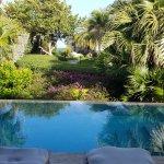 view from villa 3. Villa 3 has an outdoor shower.