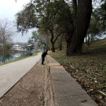 The walk along the Comal