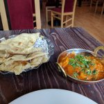 Dopiaza and naan