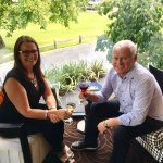 Moira and Allan Scott enjoying Happy hour at the Queenstown Park
