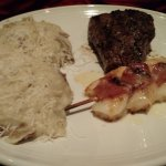 Tuscan grilled sirloin with shrimp