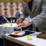 Tableside Spot Prawns baked in Salt