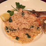 King prawn and swordfish risotto