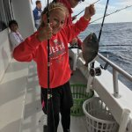 Trigger fish were not in season, but were fun to catch. They were safely put back in the ocean.