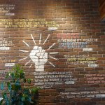 A wall inside the cafe