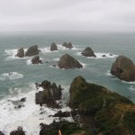 Nugget Point on a stormy day