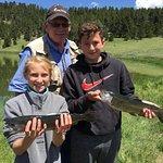 Kids fishing with Gator