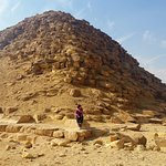 Pyramids of Dahshour, me there sitting at the bottom