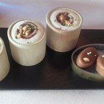 Bombones de chocolate y foie