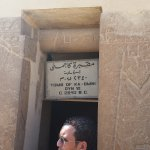 The Mastaba (Tomb) of Ka-GMNI with our tour guide Mina Samir at the front