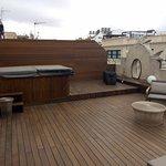 Terraza de la hab. Junior Suite con jacuzzi (404)