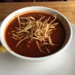 Yummy shrimp and garlic. Tortilla soup.