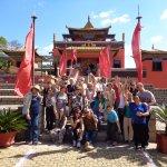 Grupo Clube da Excursão no Templo Budista Odsal Ling