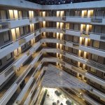 All rooms face the atrium.