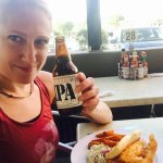 Enjoying a Lagunitas and some fish & chips on a gorgeous sunny day in La Quinta.