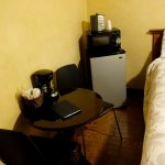 Refrigerator and small table