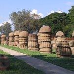 Pillars at Kachari Ruins